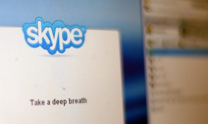 In this photo illustration, the Skype internet phone program is seen September 1, 2009 in New York City. (Mario Tama/Getty Images)