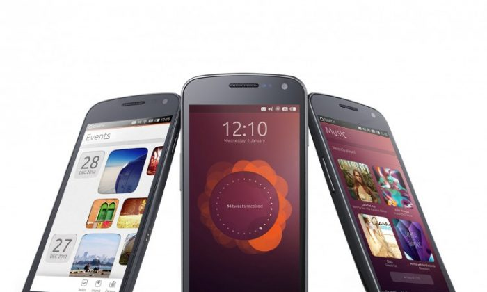 A concept rendering of Ubuntu phone OS on smartphones. Ubuntu Edge has broken records bringing in $10.3 million in crowdfunding so far. (Courtesy of Canonical Ltd.)