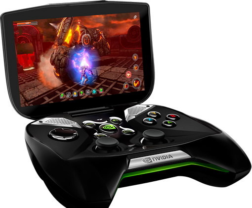 Nvidia's Project Shield gaming console based on its new Tegra 4 processor and Android. (Nvidia)