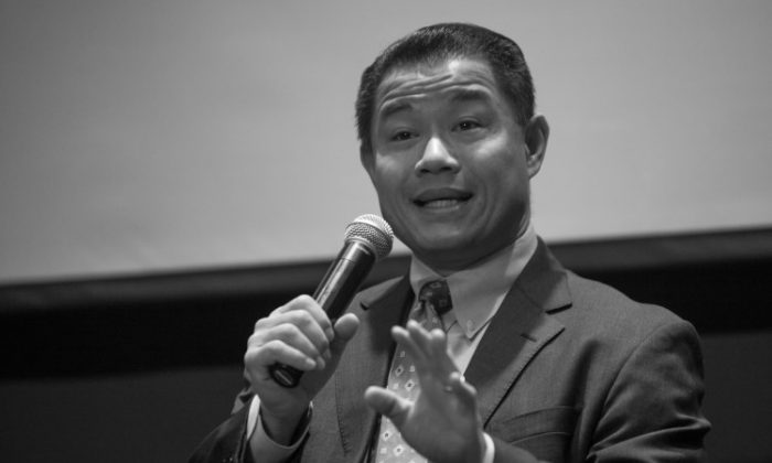 John Liu speaks during a panel discussion about education on Nov. 19, 2012. (Benjamin Chasteen/The Epoch Times)
