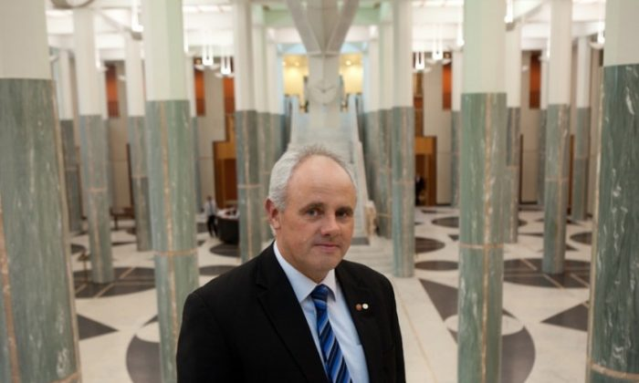 Senator John Madigan moved a motion before the Australian Senate to urge the Government to oppose organ harvesting practices. The motion was accepted unanimously by all parties. (Courtesy of John Madigan)