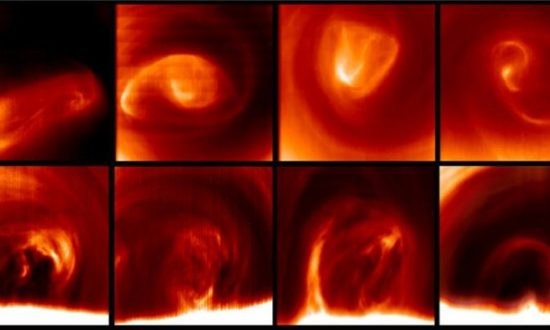 Whirlwinds Wander Around Venus's South Pole