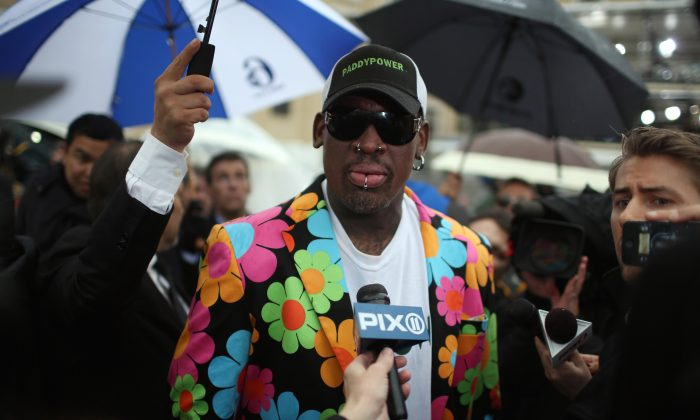 Dennis Rodman, former U.S. basketball star, in Vatican City shortly after his visit to North Korea in February. (Christopher Furlong/Getty Images)