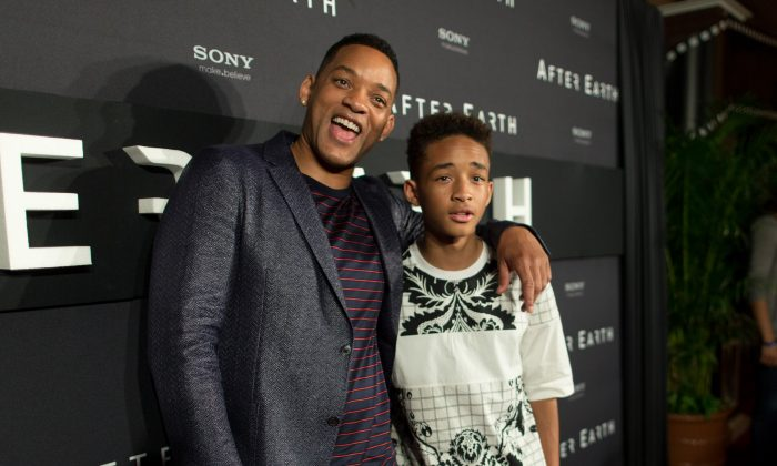 "Actors Will Smith and Jaden Smith attend the ""After Earth"" party at The 5th Annual Summer Of Sony at the Ritz Carlton Hotel in Cancun, Mexico, on April 23, 2013. (Christopher Polk/Getty Images for Sony Pictures)"