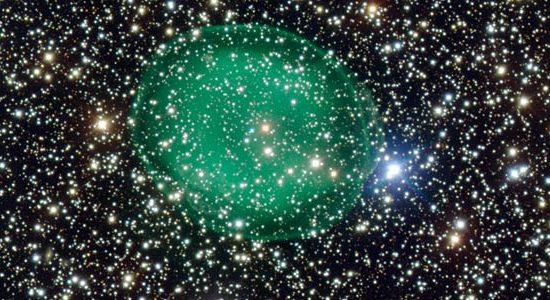 Planetary Nebula Resembles Glowing Green Micro-organism