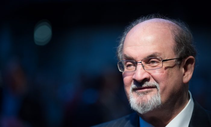 Writer Salman Rushdie in a file photo from an event in London last year. Rushdie was part of a panel of writers in New York on Friday calling for freedom of expression in China. (Ben Pruchnie/Getty Images)