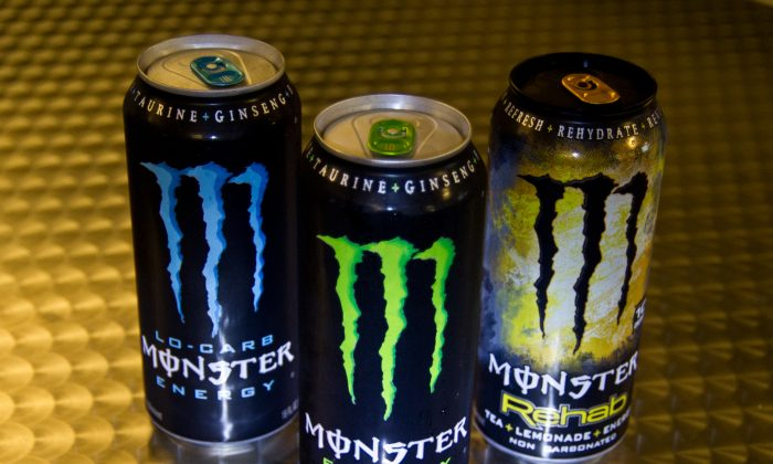 A variety of Monster Energy drinks in Washington, D.C., on Oct. 23, 2012. The FDA is investigating five deaths for possible links to consumption of Monster Energy drinks. (Karen Bleier/AFP/Getty Images)
