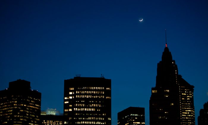 A portion of the Manhattan skyline in this file photo. (Amal Chen/The Epoch Times)