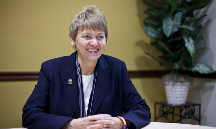 Nancy Ploeger, Manhattan Chamber of Commerce President, in her Midtown office on May 15. (Samira Bouaou/Epoch Times Staff)