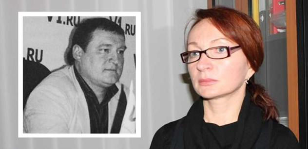 Svetlana Torubarova (R), wife of the imprisoned Russian businessman Alexey Torubarov (L). (Courtesy of Helpaman.org)
