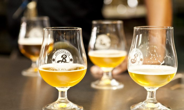 Some of the beers from the Brooklyn Brewery. (Samira Bouaou/The Epoch Times)