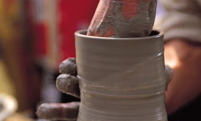 As clay vases are being made, vibrations of surrounding sounds may be recorded on the clay. (Photos.com)
