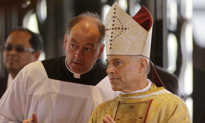 Archbishop of San Francisco, Salvatore Cordileone, at the Cathedral of St. Mary of the Assumption in San Francisco on Oct. 4, 2012. On Monday Cordileone joined a growing number of religious leaders to publicly speak out in favor of Congress passing comprehensive immigration reform. (AP Photo/Marcio Jose Sanchez, Pool)