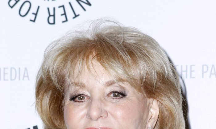 A file photo of Barbara Walters attending the The Paley Center for Media's New York Gala Evening at the Waldorf Astoria in New York City on Feb. 16, 2011. (Donna Ward/Getty Images)