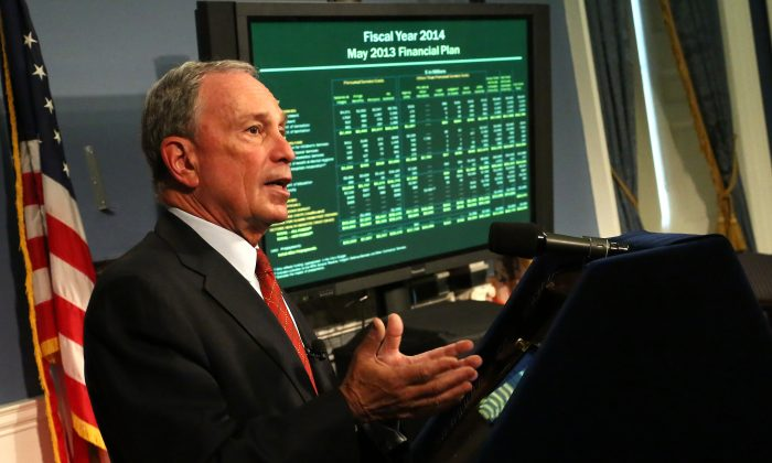 Mayor Michael Bloomberg presents fiscal year 2014 executive budget on May 2, 2013. (Edward Reed)