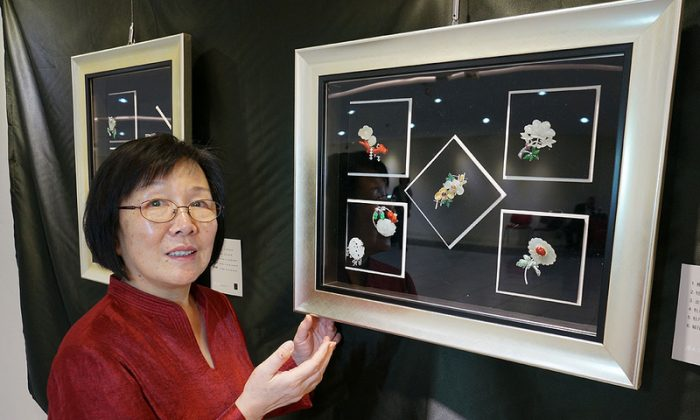 Designer Wang Peinan and some of her artwork. (Wang Peinan)