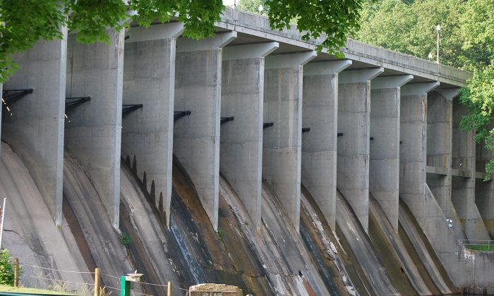 The Brighton Dam in Montgomery County, one of the bridges and dams in Maryland that requires regular maintainance. (Ron Dory/ Epoch Times)