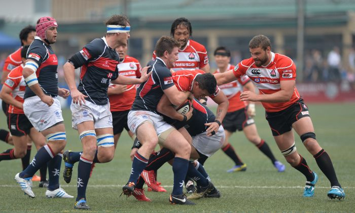 """""""It was a tough old game"""" ... Japan's coach, Eddie Jones praised Hong Kong, who were sharp in defence, but lacked in attack during their Asia Five Nations match on Saturday night, April 25. (Bill Cox/The Epoch Times)"""