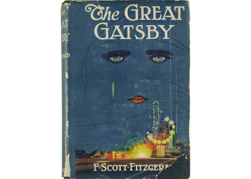 """This image released by Sotheby's auction house on Thursday May 23, 2013, shows a first edition of F. Scott Fitzgerald's masterpiece """"The Great Gatsby"""". The 1925 novel, which tells the story of millionaire Jay Gatsby's passion for the effervescent Daisy Buchanan, has a pre-sale auction estimate from $100,000 to $150,000. (AP Photo/Sotheby's)"""