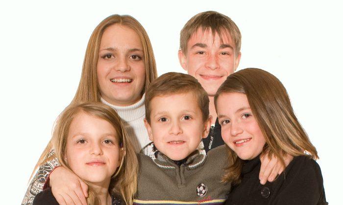 """All the children from """"High Five: a suburban adoption saga,"""" Surrey, BC, 2009. (Geno DellaMattia)"""