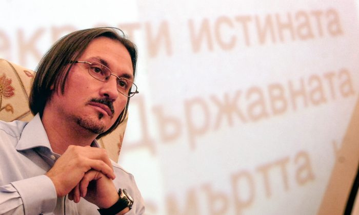 Hristo Hristov, Bulgarian the journalist famous for publishing articles revealing the truth of the repressive apparatus of the former communist regime in Bulgaria. (Courtesy of Velko Angelov)