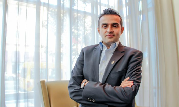 Ashish Thakkar, often called Africa's youngest billionaire, in San Francisco, May 18. Thakkar's unique business view has brought him many successes. (Jasper Fakkert/The Epoch Times)