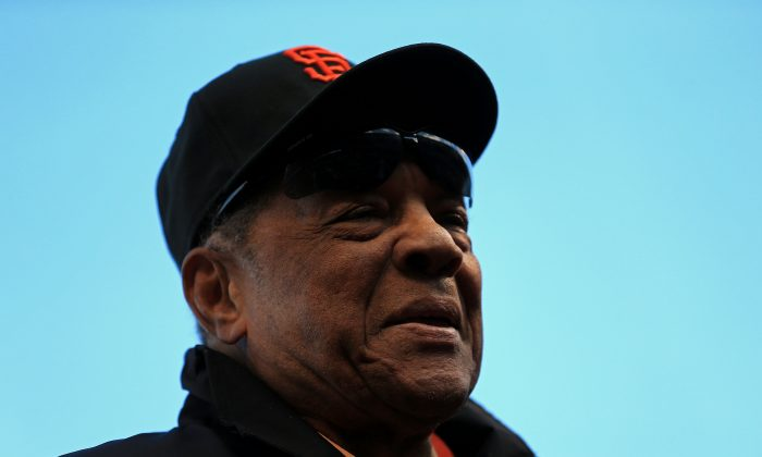 MLB Hall of Famer Willie Mays on the field before Game One of the Major League Baseball World Series between the San Francisco Giants and the Detroit Tigers at AT&T Park on October 24, 2012 in San Francisco, California. (Doug Pensinger/Getty Images)