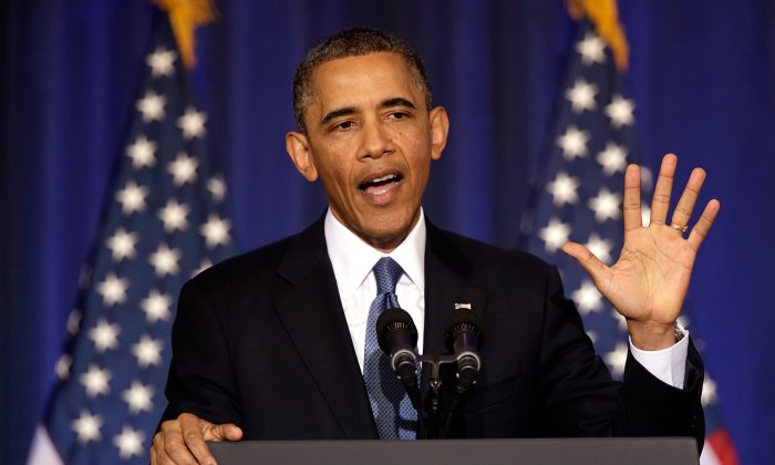 U.S. President Barack Obama speaks at the National Defense University May 23 in Washington. (Win McNamee/Getty Images)