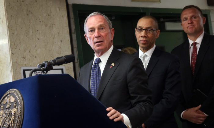 Mayor Michael Bloomberg highlighted the Urban Assembly School for Emergency Management and Urban Assembly School for Global Commerce during a press conference announcing new school openings April 2. (Edward Reed)