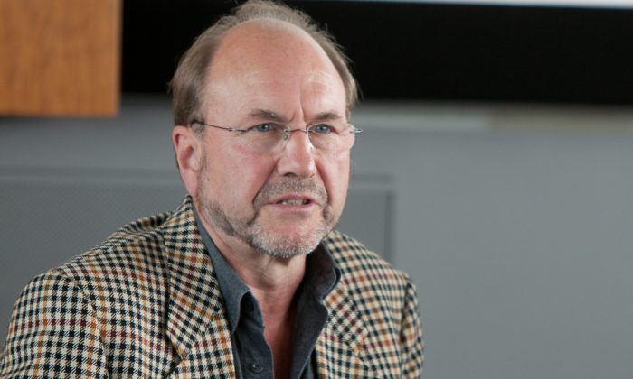 Arne Schwarz, an independent researcher of organ trafficking and related issues based in Switzerland, attends a conference in Germany in September 2012. He said that there are a number of ethical problems with a system that pays for organs. (Jason Wang/The Epoch Times)