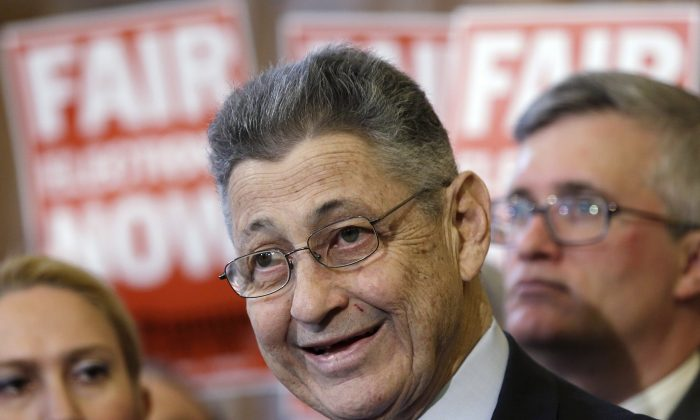 Assembly Speaker Sheldon Silver speaks during a news conference on April 16, 2013. (AP Photo/Mike Groll, File)