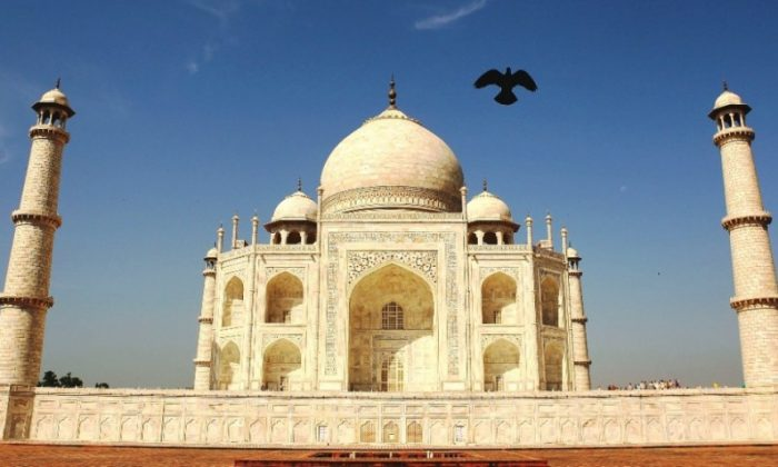 The Taj Mahal is built of white marble and inlaid with semi-precious stones, while its surface is ornamented with exceptionally beautiful calligraphic work. The splendid monument is recognized as a world heritage site by UNESCO. (Matt King/Getty Images)