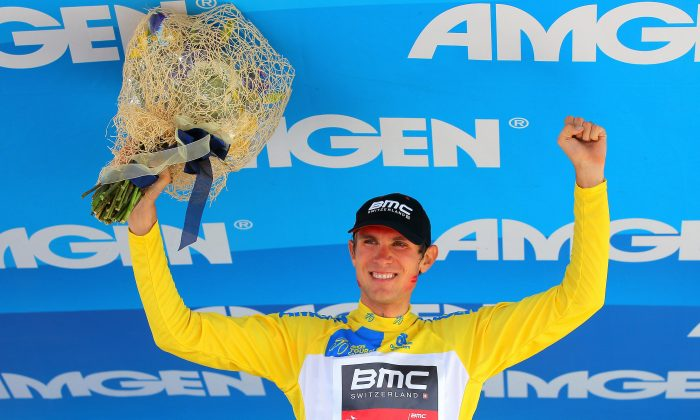 Tejay van Garderen of BMC Racing takes the podium after winning Stage Six of the 2013 Amgen Tour of California on May 17. Van Garderen went on the win the race, his first major stage-race victory. (Doug Pensinger/Getty Images)