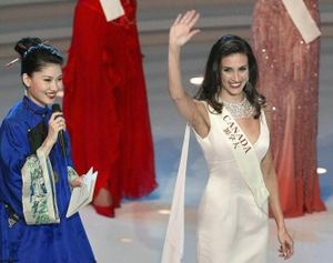 Former Miss World Canada contestant Nazanin Afshin-Jam. (Frederic J. Brown/AFP/Getty Images)
