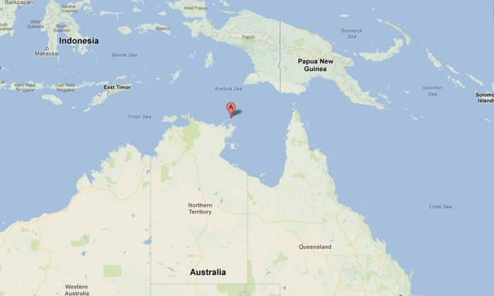 A Google Maps screenshot shows the Wessel Islands, located in northern Australia.
