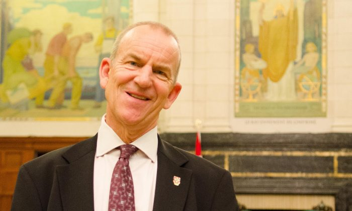 George Smith, now a professor at Queen's University, negotiated over 100 collective agreements before retiring from the public sector. He ended that earlier career as senior vice-president at CBC/Radio-Canada. (Matthew Little/The Epoch Times)