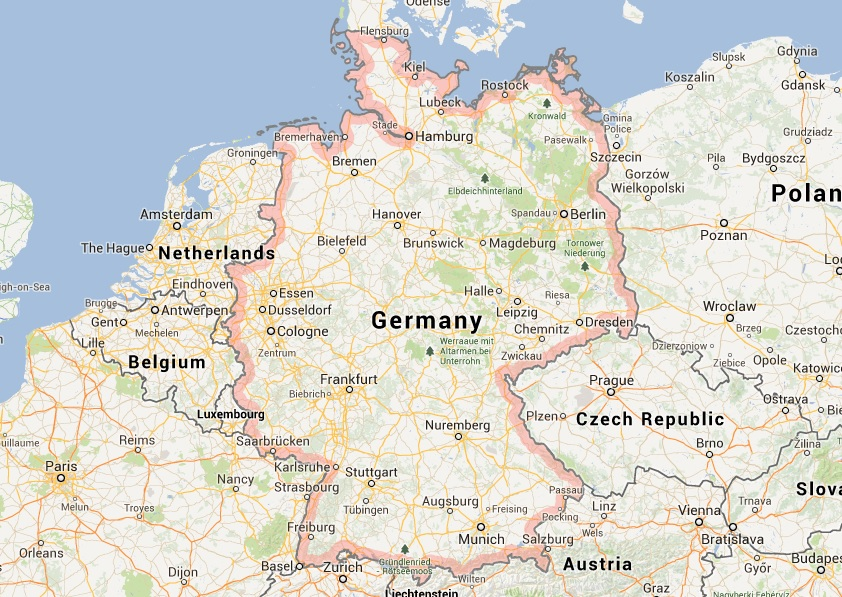 Show Map Of Germany.Show Map Of Germany Twitterleesclub