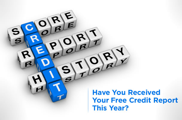 Free annual credit reports are available for people from three main credit agencies; one free report is available from each agency every 12 months. (mycreditunion.gov)