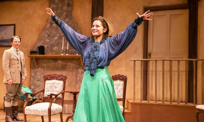 """Sean McNall and Rachel Botchan appear in the J. M. Barrie one-act """"Rosalind."""" (Al Foote III)"""