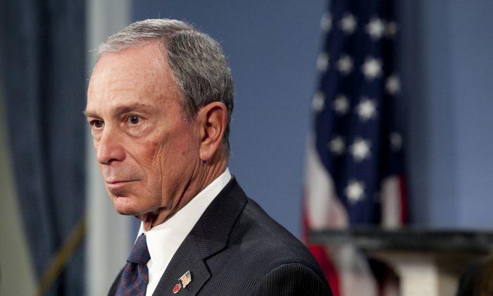 Mayor Michael Bloomberg at City Hall on Feb. 11, 2013. (Samira Bouaou/The Epoch Times)