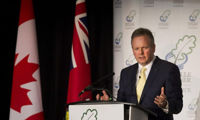 Bank of Canada Governor Stephen Poloz delivers remarks during his first public speech on Wednesday, June 19, 2013, in Burlington, Ont. (THE CANADIAN PRESS/Nathan Denette)