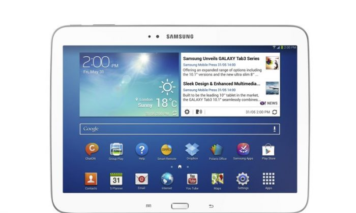 Samsung's Galaxy Tab 3 series tablet computer is seen in a file photo. Android tablets have trounced Apple's iPad in tablet sales for Q2 2013. (AP Photo/Samsung Electronics Co.)