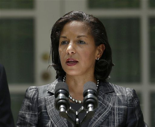 United Nations Ambassador Susan Rice, President Barack Obama's choice to become National Security Adviser, speaks in the Rose Garden of the White House in Washington, Wednesday, June 5, 2013, where the president made the announcement. (AP Photo/Pablo Martinez Monsivais)