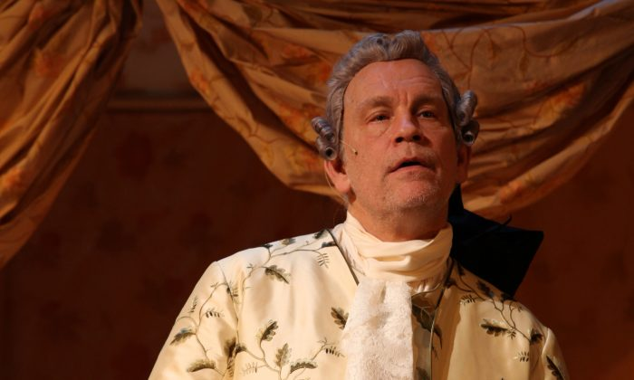"""John Malkovich plays the aging Casanova in """"The Giacomo Variations."""" (Nathalie Bauer)"""