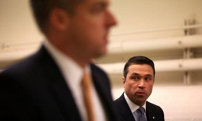 U.S. Rep. Michael Grimm (R-NY) in a January 2013 file photo in Washington, D.C. Grimm is leading a charge to have a federal rule on disaster aid amended. (Alex Wong/Getty Images)