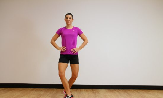 Workout of the Week: Walk and Curtsy Squat Kick
