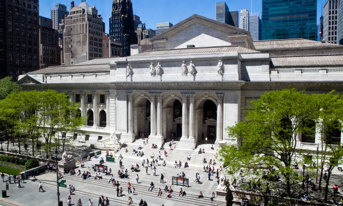 A file photo of the New York Public Library taken on May 10, 2011. (Epoch Times)