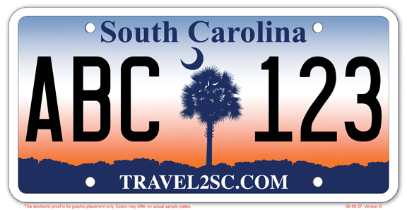 An e-plate proposal in South Carolina is designed to look just like a conventional license plate, with the added advantage of remote adjustment. (South Carolina DMV)