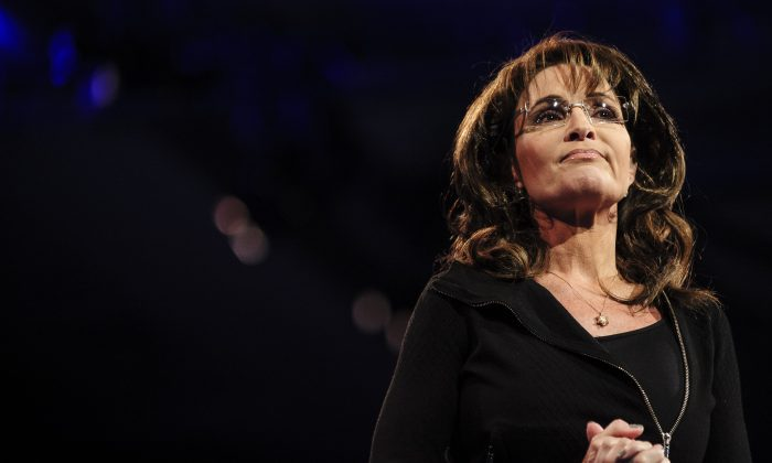 """An article that claims ex-Alaska Gov. Sarah Palin said she's happy that """"Mr. Ferguson"""" was not indicted is satire. A file photo of Sarah Palin, former Governor of Alaska, speaking at the 2013 Conservative Political Action Conference (CPAC)in National Harbor, Maryland on March 16, 2013. Palin spoke at the Faith and Freedom Coalition conference on June 15, 2013. (Pete Marovich/Getty Images)"""