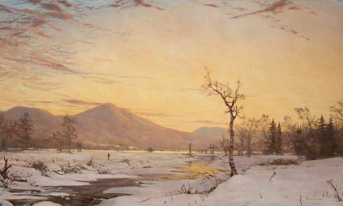 """Winter in Jackson,"" oil on canvas, Hudson River School. (Courtesy of Erik Koeppel)"